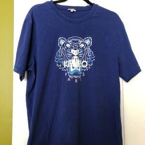 SALE: Authentic Kenzo Designer Blue Tiger Shirt.